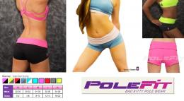Fold Over Pole Fitness Shorts